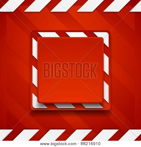 Red abstract geometric corporate background. Vector design