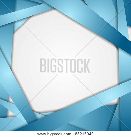 Abstract blue stripes background. Vector design