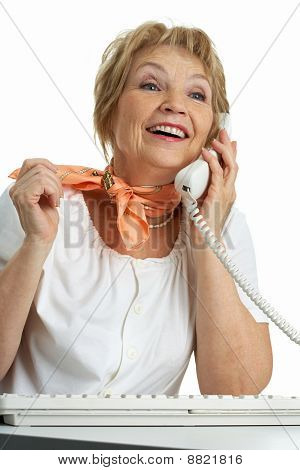Llamar a mujer Senior