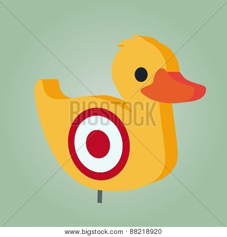 funny shooting duck illustration