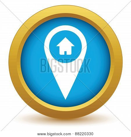 Gold home pointer icon
