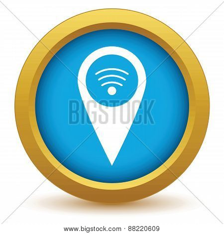 Gold wi-fi pointer icon