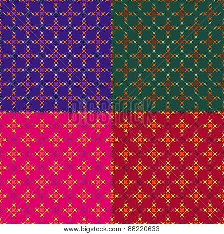 Set Color Of Seamless Geometric Patterns