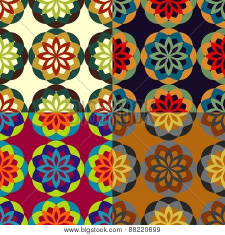 Seamless Patterns From Stylized Flowers