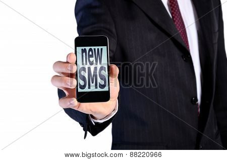 Man Receive New Sms