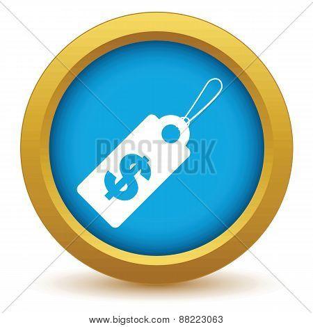Gold dollar tag icon