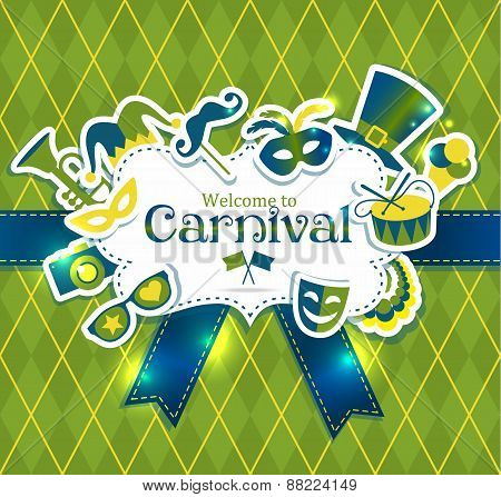 Bright vector carnival icons