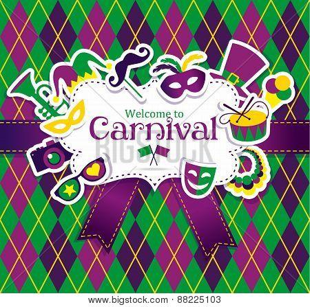 Carnival icons frame