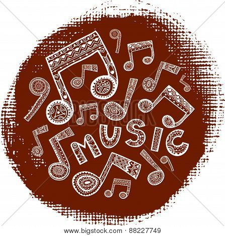 Textured Music Circle