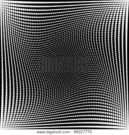 Black And White Abstract Grid, Grating Pattern