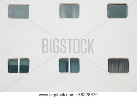 Cabin Windows Of Cruise Ship