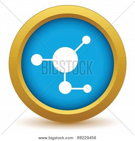 Gold atom icon