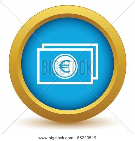 Gold euro buck icon
