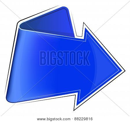Icon with blue arrow