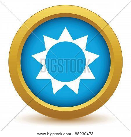 Gold sun icon