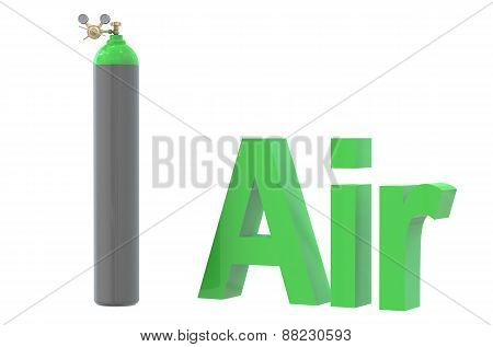 Gas Cylinder With Air,  With Pressure Regulator And Reducing Valve