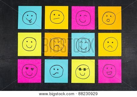 Smiley Sticky Notes