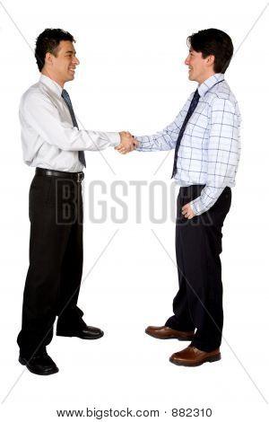 Geschäft zwischen zwei Männern