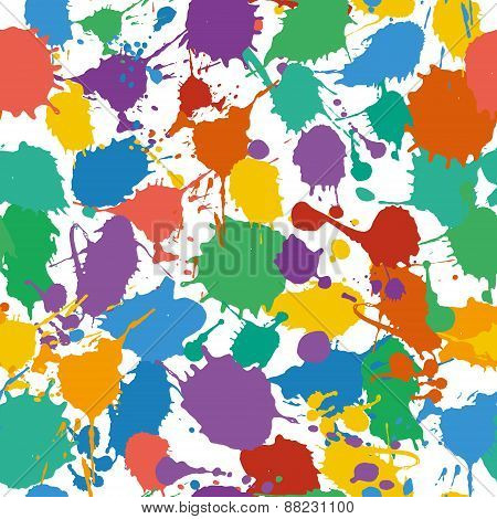 Vector illustration seamless pattern of Holi.