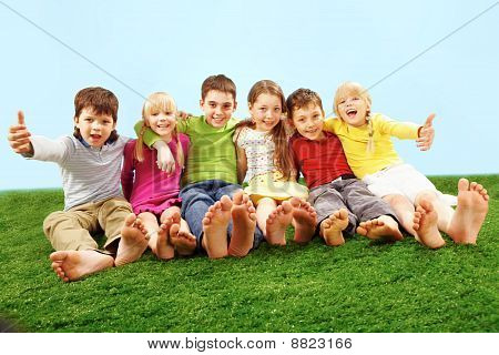 Children on grass