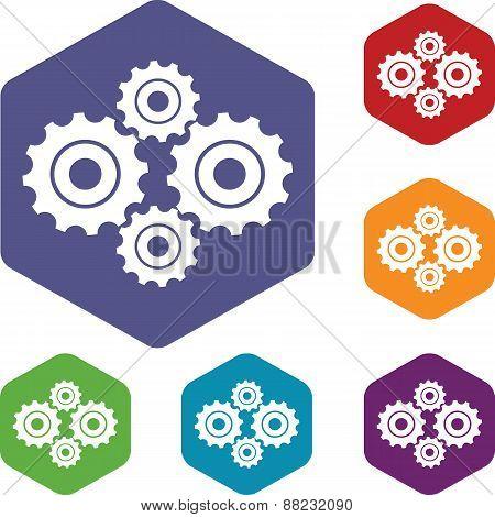 New mechanism rhombus icons
