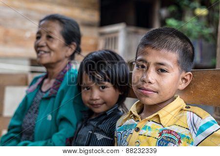 Portrait Of People From Tana Toraja