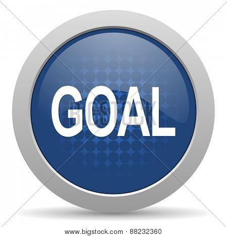 goal blue glossy web icon