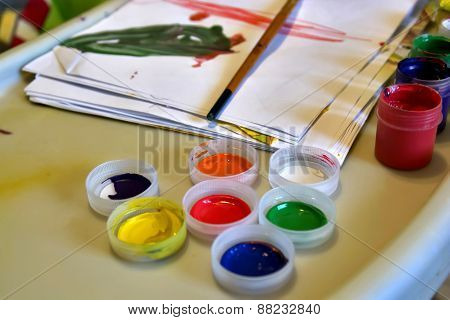 Kids Paints And Brush