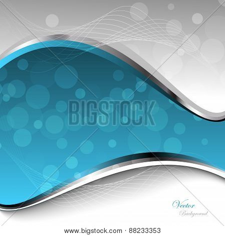 Abstract Blue Waves - Data Stream Concept. Vector