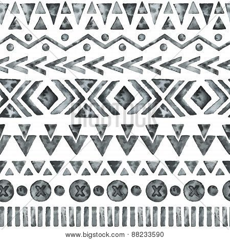 Ethnic Watercolor Seamless Pattern.