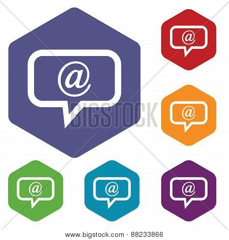 Mail rhombus icons