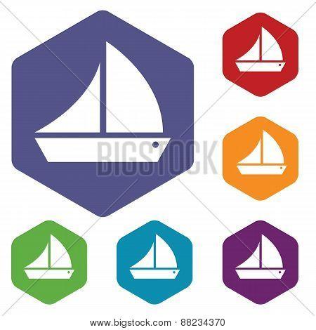 Ship rhombus icons