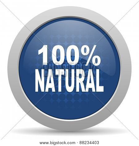 natural blue glossy web icon