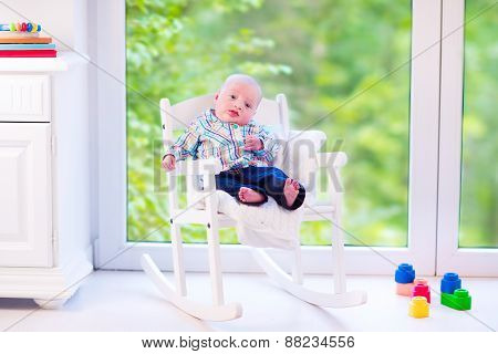 Baby Boy N A Rocking Chair