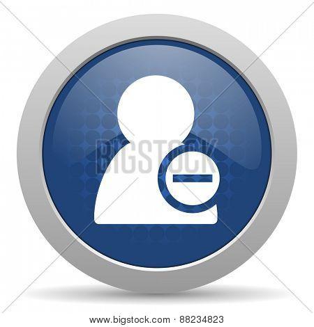 remove contact blue glossy web icon