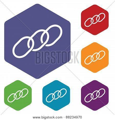Chain rhombus icons