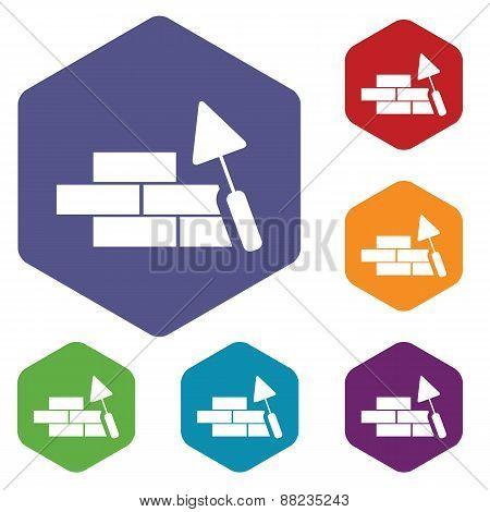 Building rhombus icons