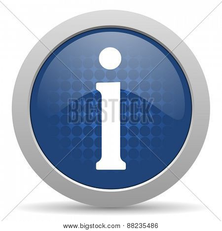 information blue glossy web icon