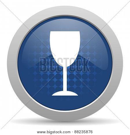 alcohol  blue glossy web icon