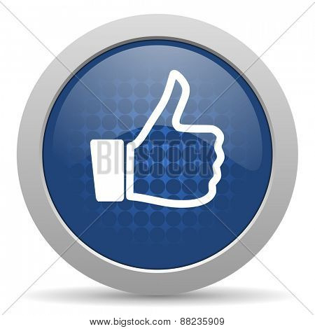 like blue glossy web icon