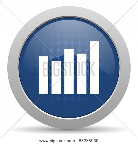 graph blue glossy web icon