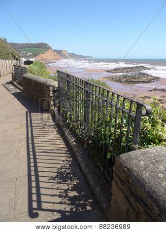 Railings Pathway Seascape