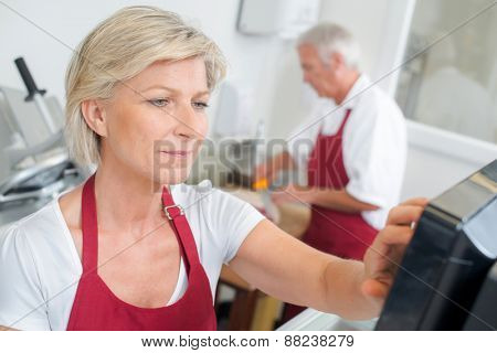Working a s a butcher