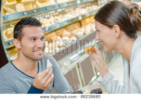 Couple having a romantic lunch
