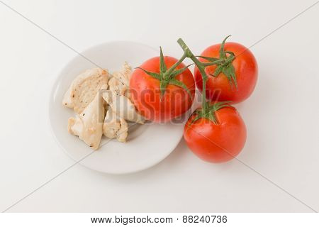 Meat And Tomatos