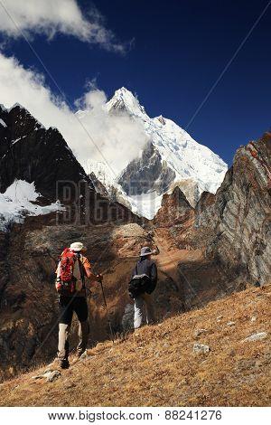 Trekking in Cordiliera Huayhuash, Peru, South America