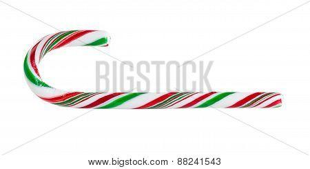Seasonal Candy Cane On White Background