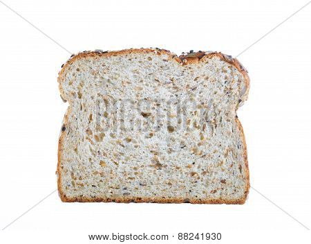 Fresh Slice Of Bread Isolated On White