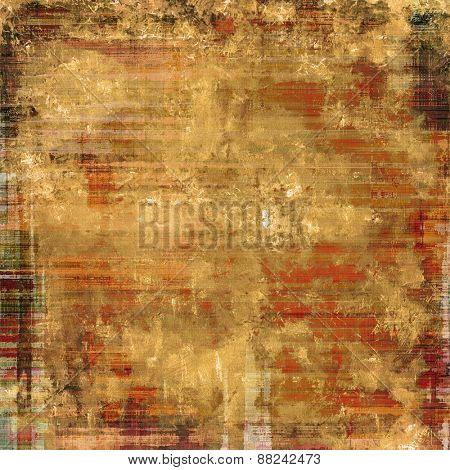 Grunge retro vintage texture, old background. With different color patterns: yellow (beige); brown; gray; red (orange)