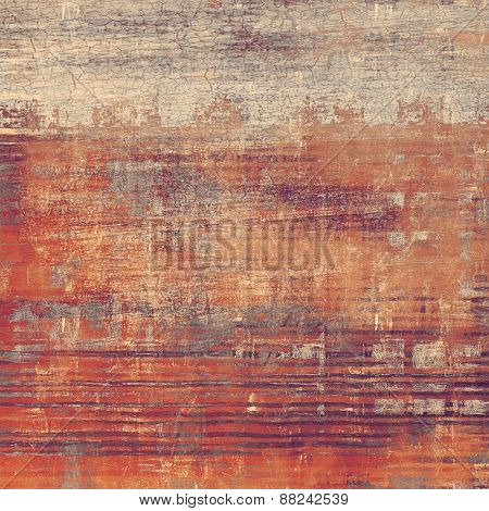 Grunge texture, Vintage background. With different color patterns: brown; gray; red (orange); purple (violet)